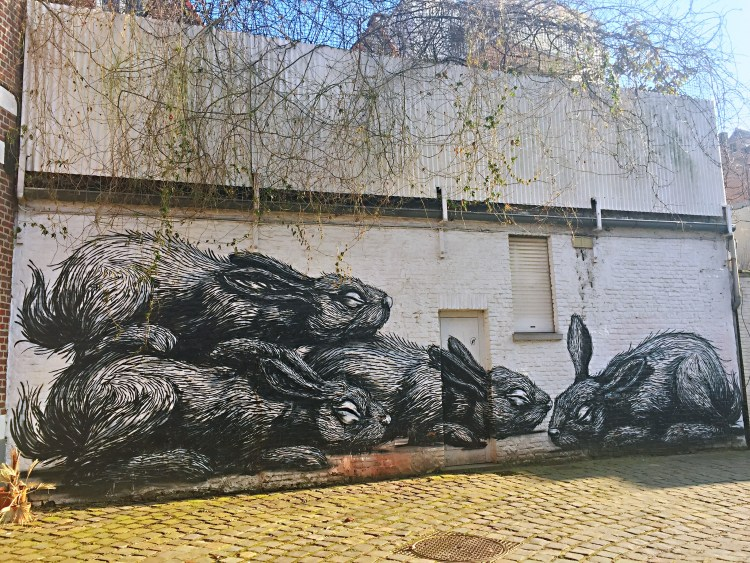 ROA's wall art in Ghent - Belgium photo diary