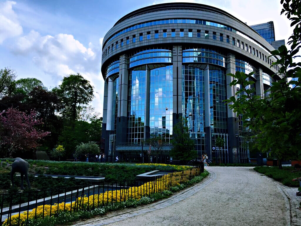 Nice building with garden - Brussels attractions