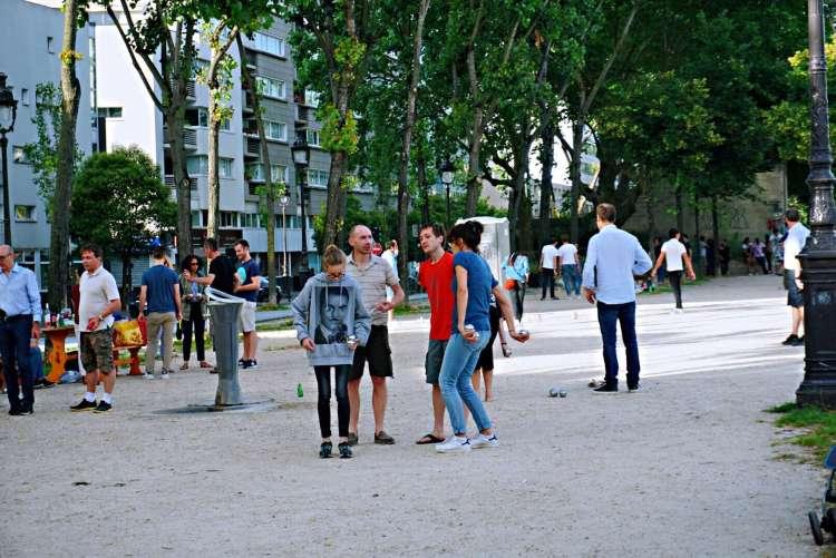 Game of petanque - Canal saint martin