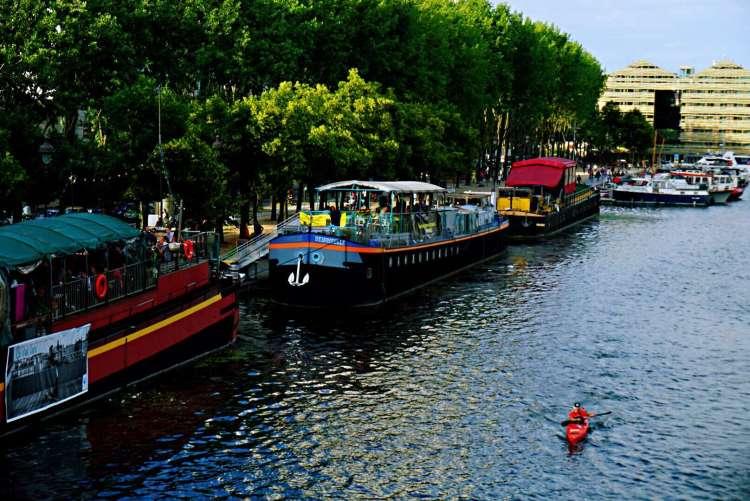 Boats in bassin de la Villette - Canal saint martin