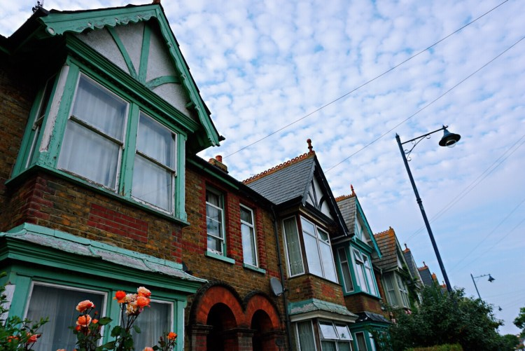 Colourful houses - Whitstable day trip seaside town things to do