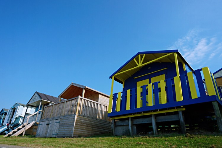 Bright and colourful Tankerton huts - Whitstable day trip seaside town things to do