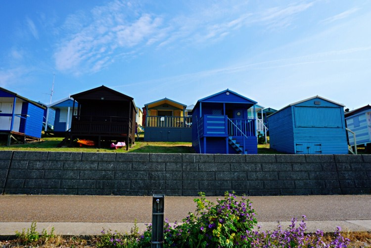 Beautiful Tankerton huts - Whitstable day trip seaside town things to do