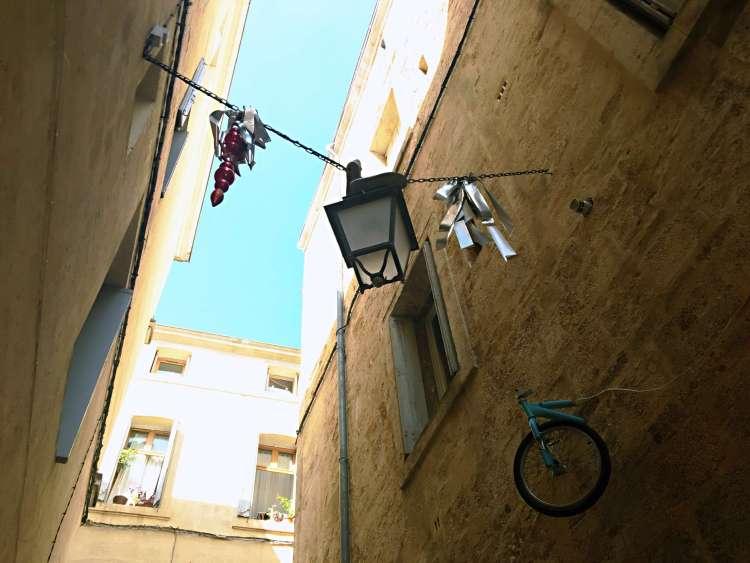 Half-bike by Mr BMX - Street art Montpellier
