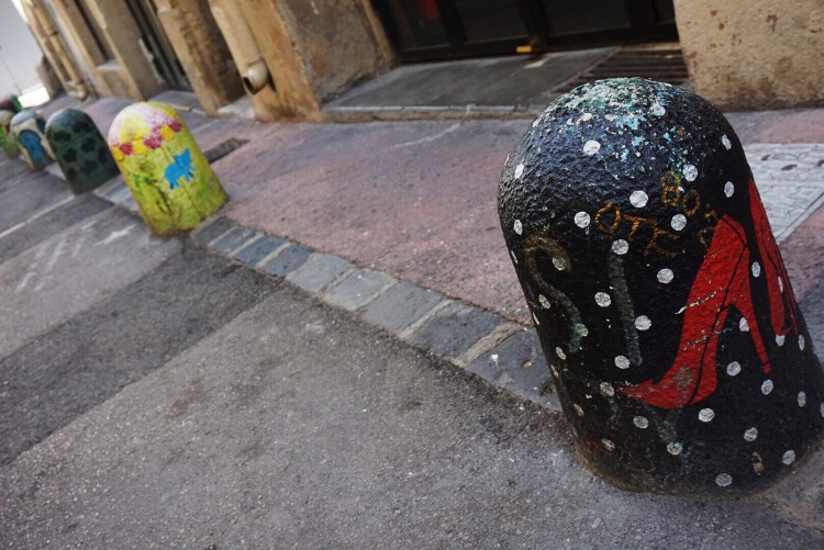 Decorated bollards - Street art Montpellier