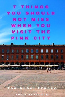 7 Things you should not miss when you visit Toulouse, France. Blue, pink and violet: these are Toulouse's colours.From the banks of the river Garonne to the pink coloured buildings in the old town and the Capitole square, discover the things to do in Toulouse and especially the 7 things you shouldn't miss out when you visit the Pink City.