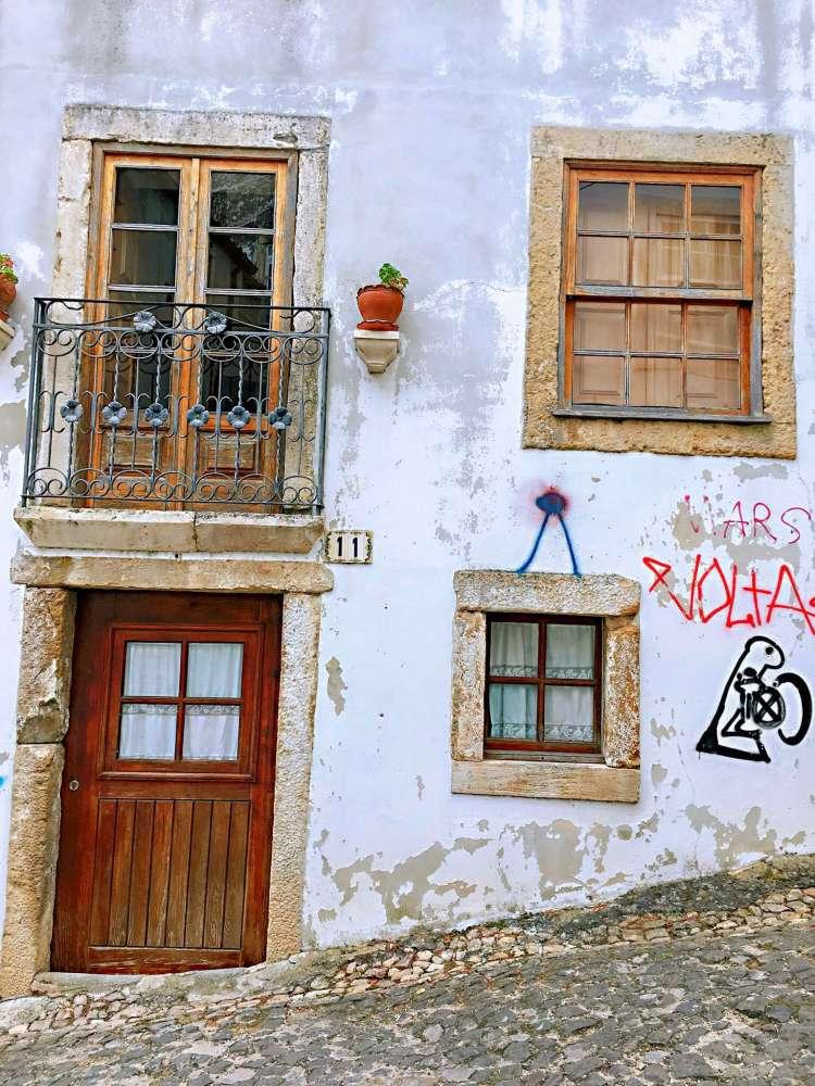 Quaint house facade - One day in Coimbra