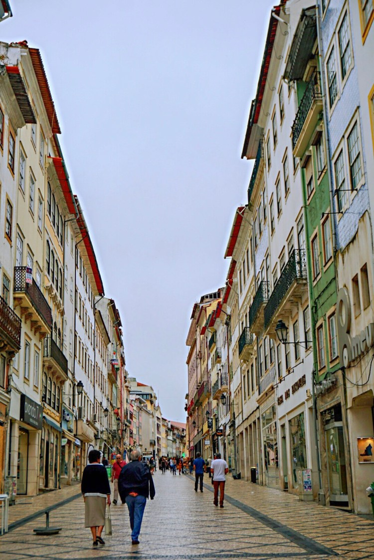 Main shopping street in Coimbra - One day in Coimbra