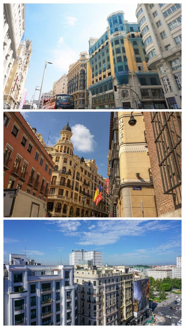 Buildings in Gran Via - Weekend breaks in Madrid