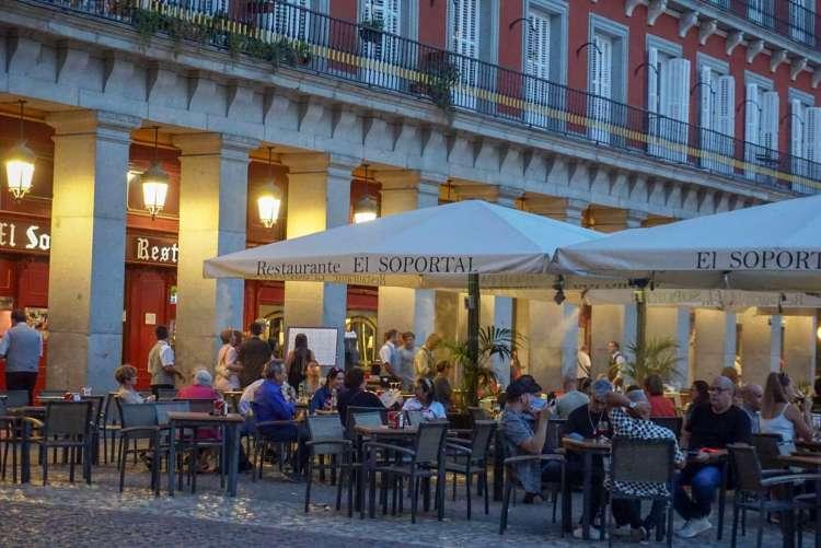 Restaurant El Soportal in Plaza Mayor - Weekend breaks in Madrid