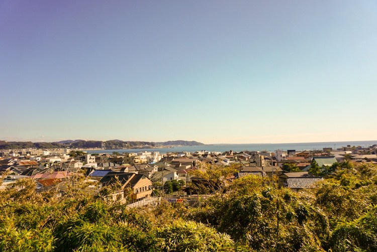 View of the coastal town of Kamakura  - Kamakura day trip