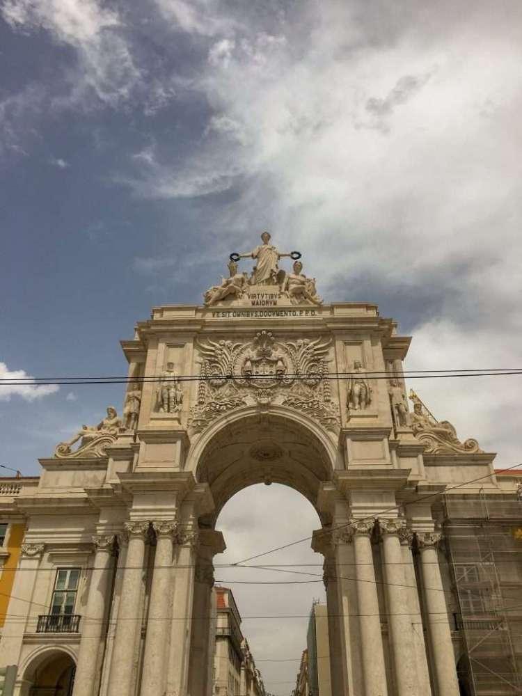 Arch Praca do Comercio - 3 days in Lisbon