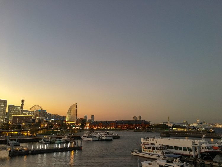 Osanbashi Pier at night - Things to do in Yokohama