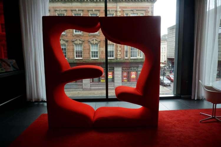 Design sofa at citizenM