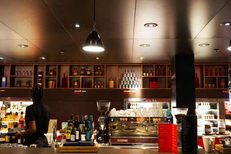 Bar at canteenM CitizenM hotel Glasgow