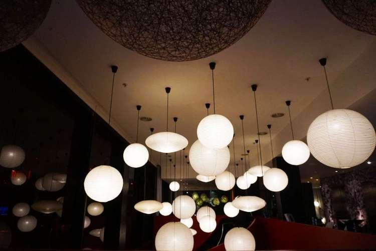 Lanterns at CitizenM hotel Glasgow