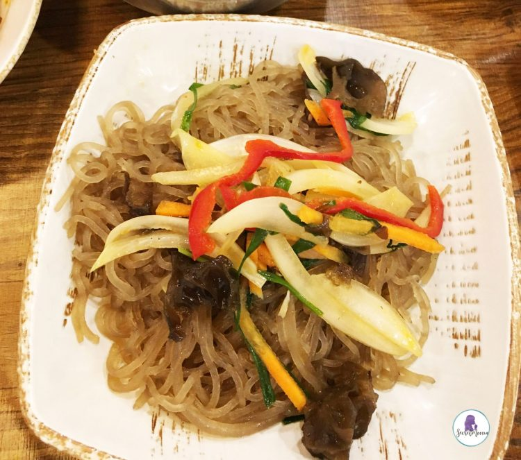 Best Korean food to try in Seoul - Japchae (stir-fried noodles)
