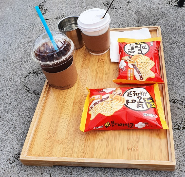 Well deserved treat on Jeju Olle Trails
