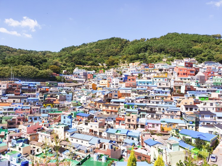 Pastel-coloured houses of Gamcheon Culture Village