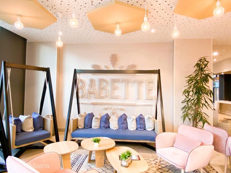 Seating area at Babette restaurant, Hilton Garden Inn Bordeaux Centre