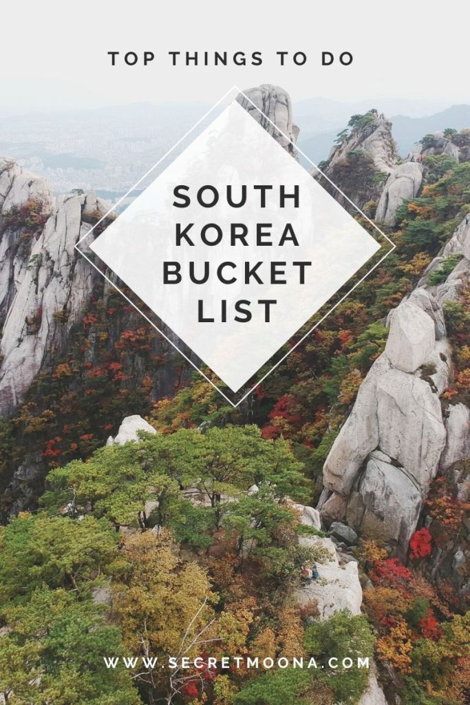 South Korea bucket list. Looking for things to do in South Korea? I've compiled the ultimate South Korea bucket list full of adventures, cultural experiences, and must-see sights.
