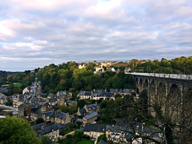 View of Dinan from the fortified ramparts