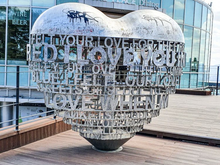 Heart sculpture at Namsan Tower