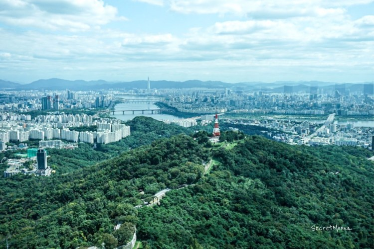 View of the huge Namsan Park from the observation deck