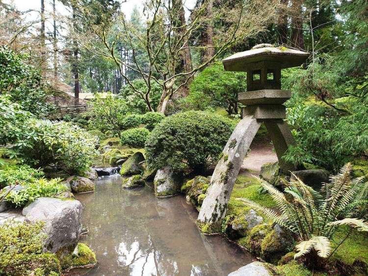 Lantern at Portland Japanese Garden