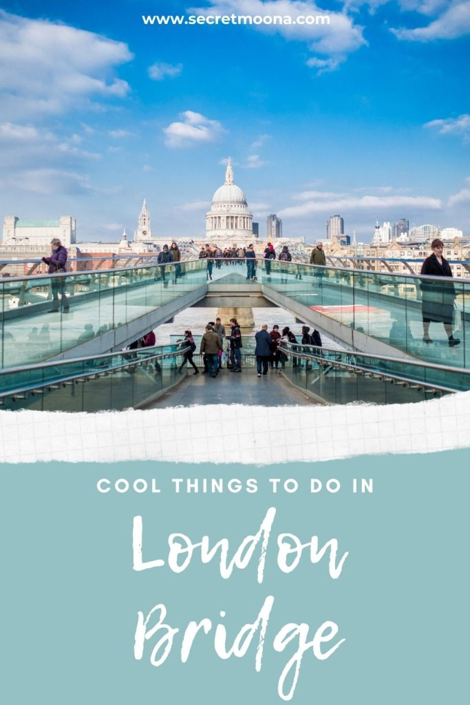 Things to do in London Bridge - visit the Millennium Bridge