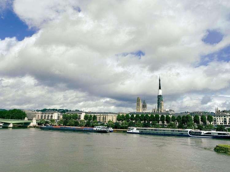 Banks of Seine River, Rouen Normandy