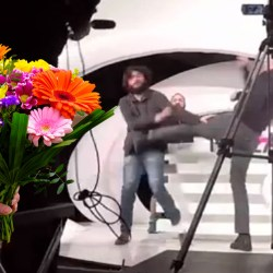 """""""C'est à cause de sa barbe, je l'ai pris pour un terroriste"""" : Soral envoie des fleurs à Conversano pour s'excuser d'avoir été violent"""