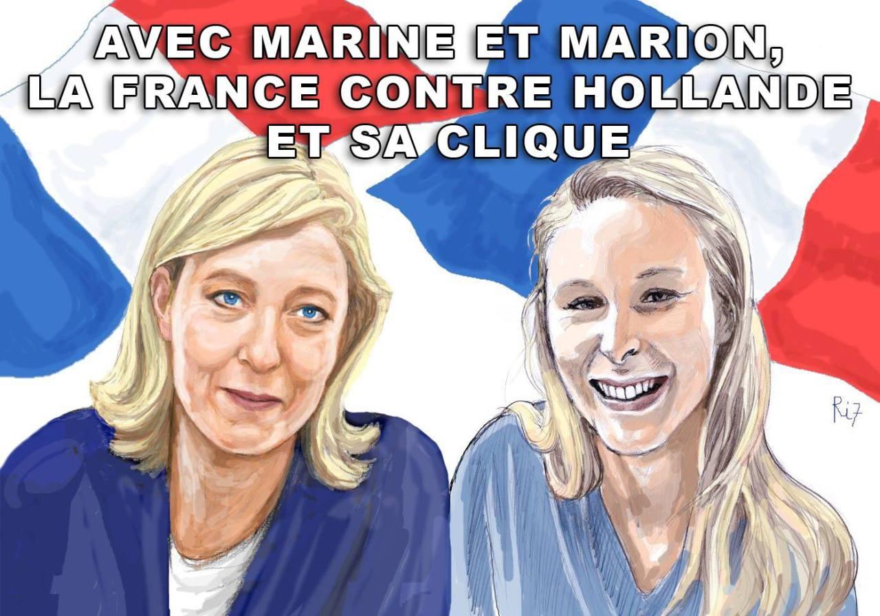 montage-Marine-Le-Pen-15 TOP 50 des plus beaux montages photos de Marine Le Pen : Il y a du talent au FN !