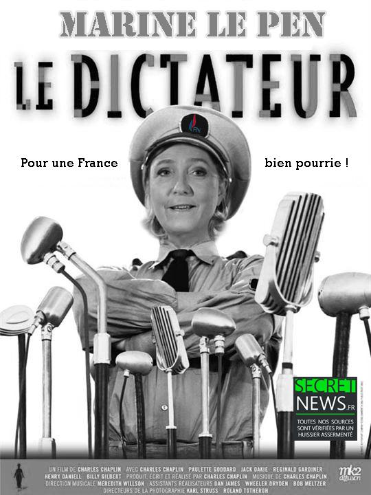 """marine-le-pen-dictateur-france Marine Le Pen : """"Ceux qui enquêtent sur mon honnêteté seront guillotinés. Des têtes vont tomber"""""""