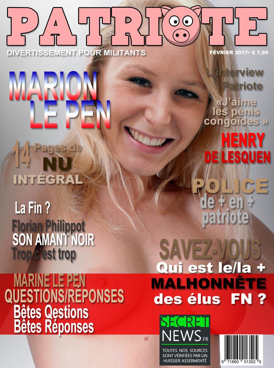 marion-le-pen-patriote-seins-nu PATRIOTE : premier numéro du magazine militant - Marion Le Pen en cover (PHOTOS)