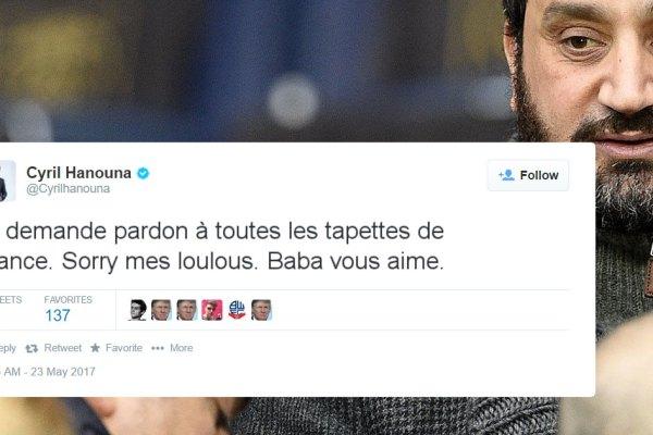 """""""Je demande pardon à toutes les tapettes de France"""" – Cyril Hanouna présente ses excuses"""