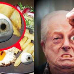 Jean-Marie Le Pen furieux : son œil de verre tombe dans ses frites en plein repas