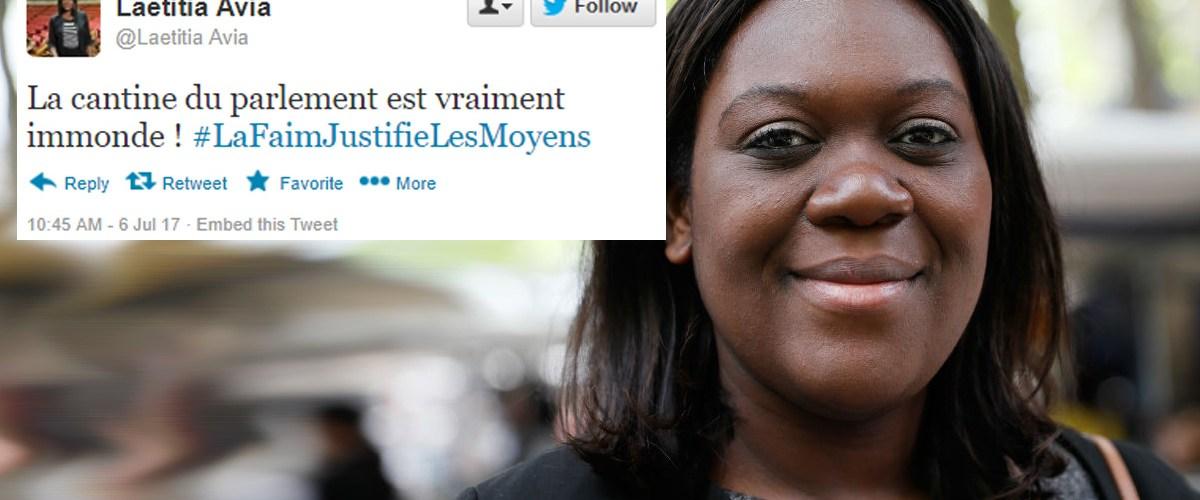 """""""La cantine du Parlement est immonde !"""" - Laetitia Avia s'explique après avoir mordu un chauffeur de taxi"""
