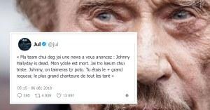 Très ému, le rappeur JUL rend hommage à son idole Johnny Hallyday