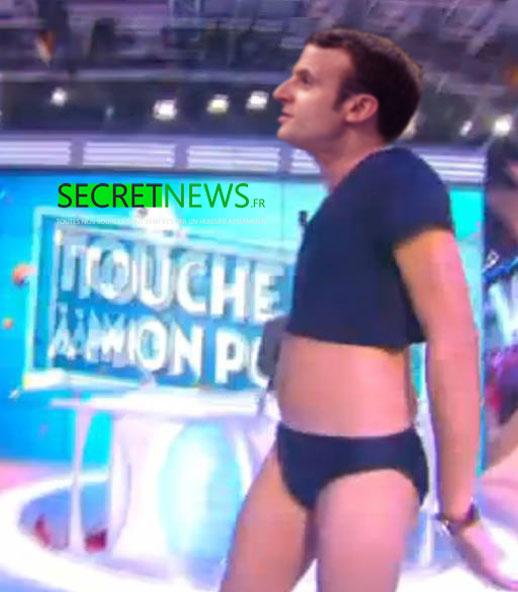 macron-danse-slip-hanouna-tpmp-secretnews Macron dansera en slip dans TPMP pour faire oublier la grève aux Français