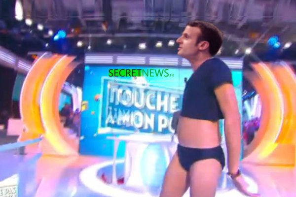 Macron dansera en slip dans TPMP pour faire oublier la grève aux Français