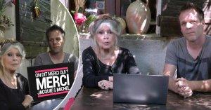Brigitte Bardot et Rémi Gaillard présentent leur vidéo porno pour Jacquie et Michel tournée dans un abattoir du Gard