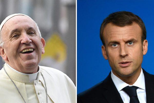 """""""Si tu veux la révolution, commence par éliminer les protestants"""" – Emmanuel Macron recadre le Pape François qui l'a appelé Manu"""