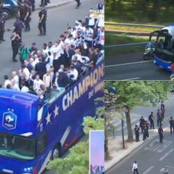 Nouvelles dégradations : des casseurs ont arraché le toit d'un bus sur les Champs-Élysées