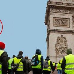 Depuis l'Arc de Triomphe, les Gilets Jaunes ont abattu l'hélicoptère du Premier ministre en fuite