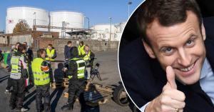 Baisse de la pollution en Bretagne : Macron félicite les Gilets Jaunes qui bloquent les dépôts de carburant