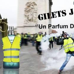"""Gilets Jaunes """"un parfum de rêvolte"""" - une création effrontée de Jean-Paul Gaultier"""