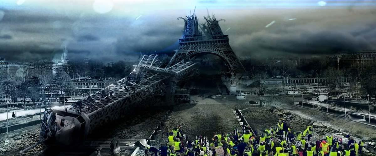 Les Gilets Jaunes ont (encore) fait tomber la tour Eiffel