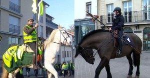Gilets Jaunes contre CRS dans un tournoi de chevalerie sur les Champs-Élysées