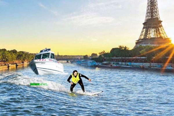 Une gilet jaune échappe aux CRS en surfant sur la Seine